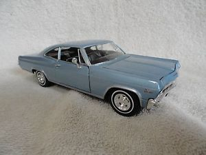 American Mint 1965 Chevrolet Chevy Impala SS Premium Edition by Welly Blue