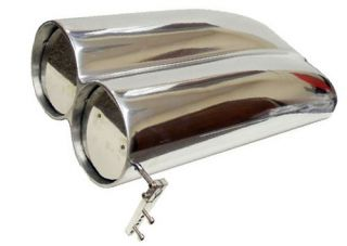 Polished Aluminum Shotgun Smooth Top Double Barrel Air Scoop