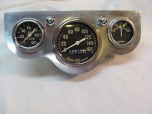 Vintage Stewart Warner Speedometer Oil Amp Gauges with Hildebrandt Panel