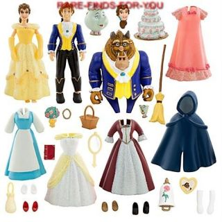 Disney Parks Deluxe Princess Belle Fashion Play Set Polly Pocket Style New