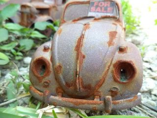 1 18 VW Beetle Bug Polizei Unrestored Junker Diorama Junk Yard Graveyard Damaged