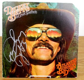 Dickey Betts Allman Brothers Signed Album Cover JSA H45245