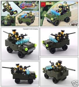 Military Army Jeep Building Block Brick Set 272