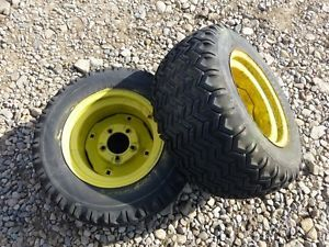 John Deere 110 Tractor Firestone 23x10 50 12 Rear Tires Rims