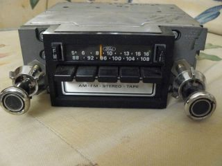 Ford Mustang Cougar Torino Am FM 8 Track Stereo Radio