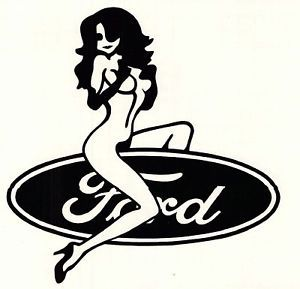 Boat Truck Mudflaps Ford Girl Vinyl Decal Sticker