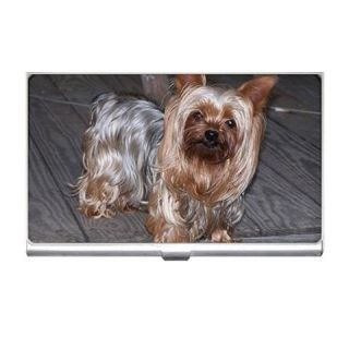 Yorkshire Terrier Puppy Dog Photo Business Card Holder