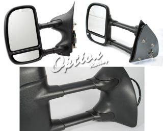 2000 2005 Ford Excursion Manual Telescoping Towing Mirror Mirrors Pair Set New