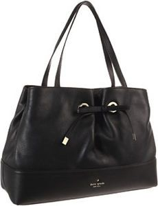 New Kate Spade West Valley Maryanne Leather Tote Shoulder Bag Black