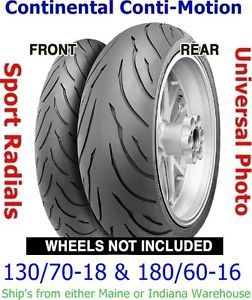 130 70 18 Front 180 60 16 Rear Continental Conti Motion Motorcycle Tires