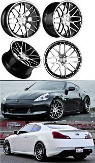 "20"" Vertini Magic Wheels for Nissan 370Z 350Z G37 G35 Coupe Concave Series Rims"