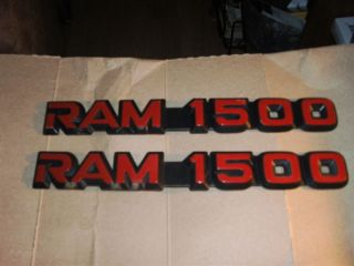Price Lower Red Black Dodge RAM 1500 Truck Emblems