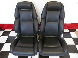 90 96 Nissan 300zx Black Leather Front Seats Nice Condition Pair Seat