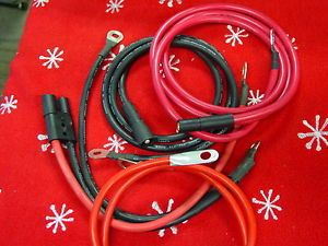 New Meyer Replacement Snow Plow Battery Cables Plug In