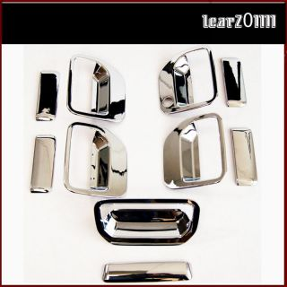 06 10 Honda Ridgeline Pickup Chrome Door Tailgate Handle Covers Combo Set Trim