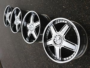 "20"" Giovanna Forged Chrome Wheels Rims asanti Forgiato EXE Mercedes 5x112 5x114"