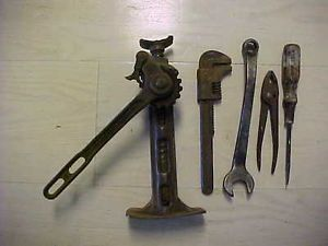 Vintage Ford Car Truck Tractor Tools Jack Pliers Screw Driver Monkee Spark Plug