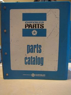 1967 Chrysler Dodge Plymouth Mopar Parts Manual Charger Coronet RT GTX Barracuda