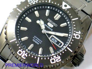 Seiko Gun Metal Automatic Seamaster 100M Watch SNZG41