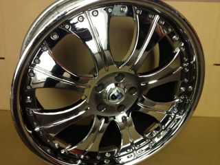 "4 asanti 20"" AF 131 Chrome Mercedes Benz s Class Staggered Rims Wheels"