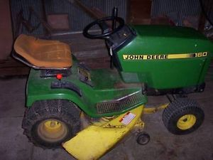 "John Deere 160 Lawn Tractor w 38"" Deck Snow Blade Tire Chains and EXTRAS"