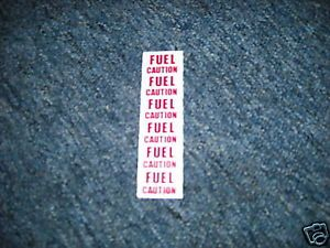 1984 1985 Ford Mustang GT SVO Fuel Pump Line Decal