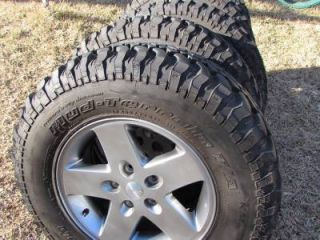 "5 Jeep Wrangler 07 14 Rubicon Sahara Unlimited 17"" Wheels BFG Mud Terrain Tires"