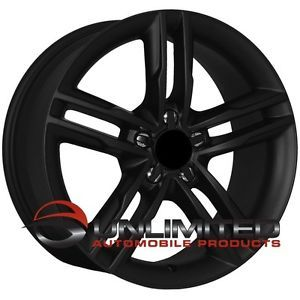 "18"" S5 Style Matte Black Wheels Rims Fit Audi A4 B5 B6 B7 B8 A5 A6"