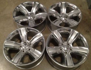 "2013 Dodge RAM Factory 20"" Wheels Sport Hemi 1500 Polished Silver Like New"