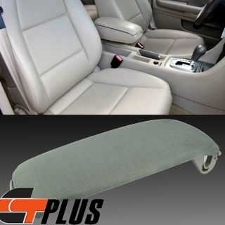 Audi A6 S4 A4 00 06 Cloth Armrest Protect Cover Center Console Lid Latch 02 Gray