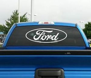 "Ford Oval 24""x8 4 Truck Car SUV Window Vinyl Decal Sticker Wall Trailer Tool Box"