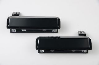 Pair Ford Mustang Outside Door Handles Black Metal New