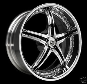 "20"" Lexani Lt 500 Wheels Tires asanti Staggered Rims"