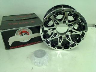 "American Outlaw Buckshot Series Black Wheel with Machined Face 16x8"" 8x165 1mm"