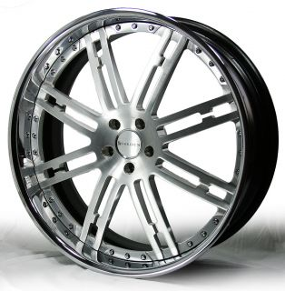 "24"" Breden Forged Bellwether C02 Range Rover Wheels Brushed and Chrome Finish"