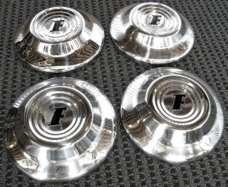 1951 Ford Hub Caps Set of 4 Hot Rat Rod Custom Flathead Street Old School NHRA