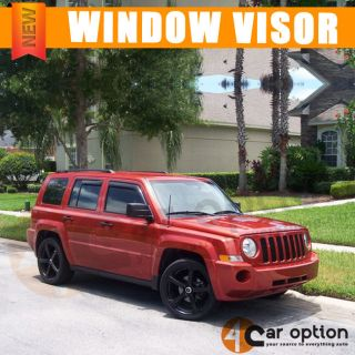 07 12 Jeep Patriot Smoke Slim Style Sun Window Visor Rain Guard Vent Shade 4pcs