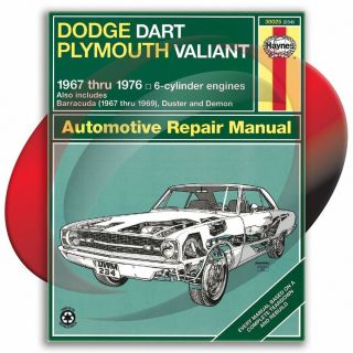 1967 1989 Dodge Dart Haynes Repair Manual 30025 Shop Service Garage Maintenance