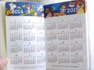 2014 Disney Toy Story Cars Pocket Schedule Organizer Monthly Planner Journal