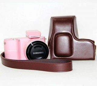 Leather Digital Camera Case Bag Cover for Samsung NX 1000 NX1000