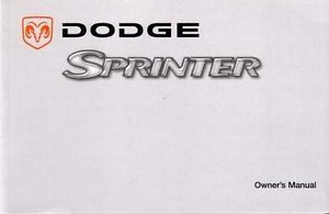 2004 Dodge Sprinter Owners Manual User Guide Reference Operator Book Guide