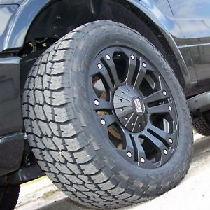 "20"" Monster Wheels Nitto Terra Grappler Chevy Tahoe Yukon 1500 Ford F150 4x4"