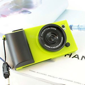 Neon Green Fashion Retro Camera Style Hard Case Cover iPhone 4 4G 4S Accessory