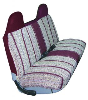 Burgundy Red Saddle Blanket Truck Bench Seat Cover Ford Chevy Pickup