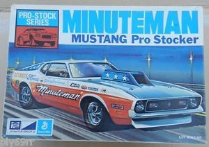 Ford Mustang Pro Stock Drag Race Minuteman 1971 MPC Model Kit Box Junkyard Parts
