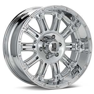 20 inch XD Hoss Chrome Wheels 8x170 Ford F250 F350 12