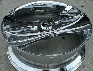 "Dub Deux Wang S149 26"" Chrome Rims Wheels Caprice 5x5 26 x 9 5 5H 10"