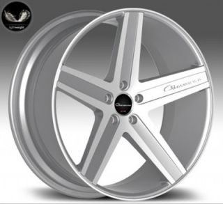 "22"" Giovanna Dramadio Silver Wheels Rims for BMW Mercedes Camaro Challenger"