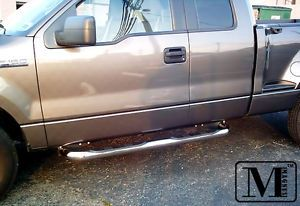 04 08 Ford F150 Super Cab Excl Heritage Chrome Side Step Stainless Nerf Bars