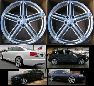 "20"" s Line Style Wheels for Audi A8 A6 A4 Q5 New Set of 4 Rims Caps Included"